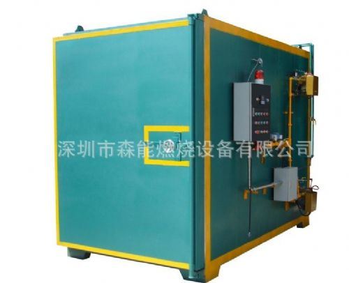 深圳碳化炉 脱漆炉厂家 森能燃烧设备机箱机柜剥漆炉