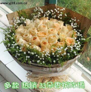 北京生日鲜花速递 北京朝阳区鲜花预定 情人节玫瑰花束价格
