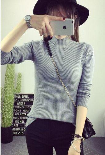 春冬季韩版女装针织衫批发保暖弹力针织打底衫