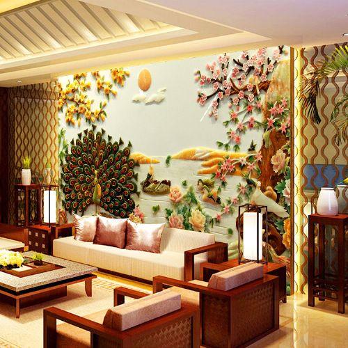 上海无缝墙布3d背景墙欧式风格