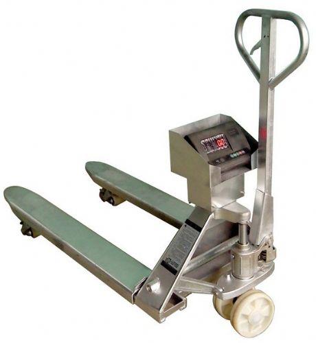 供应3t叉车磅秤 手动液压搬运车 不锈钢液压搬运叉车秤