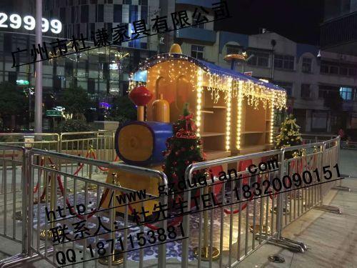 玻璃钢火车头服装促销车 小火车装饰买卖车 托马斯展示流动车