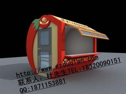 服装广场售货亭,商品时尚售货车,步行街销售车 - 广州杜家具制造