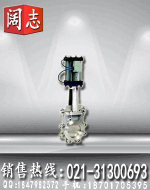 PZ643F-16P气动不锈钢刀型闸阀