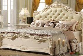 欧式双人床单人大床白色家具套房