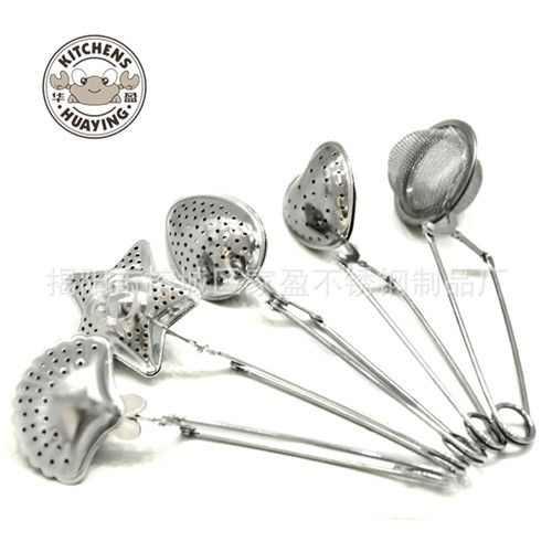 直销华盈牌 不锈钢创意泡茶小工具 多用茶夹 滤茶器