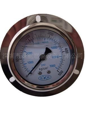700kg高压精密气压表 轴向耐振充油压力表