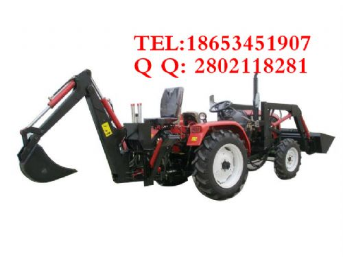 山西拖拉机改装小铲车 改装两头忙 前铲后挖 推粪机