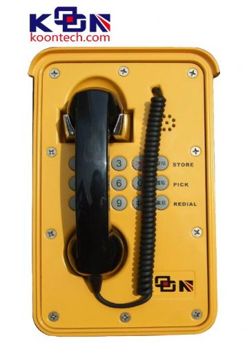 户外防雨防雷电话,提机自动报警电话机,水电站地下用的电话机