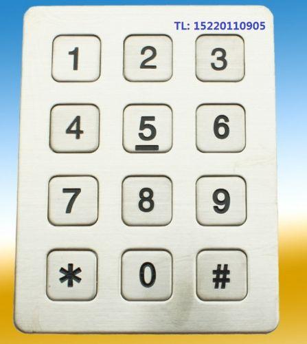 工业电话机金属按键,防水电话机金属键盘,公用电话机键盘