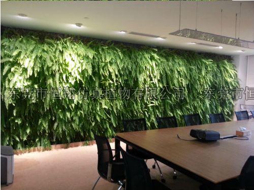 办公室内仿真植物墙 室内墙体植物墙