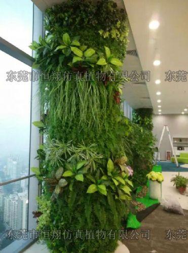 仿真植物墙 室内垂直绿墙 绿色植物墙