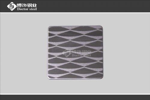 喷砂黑钛不锈钢蚀刻板