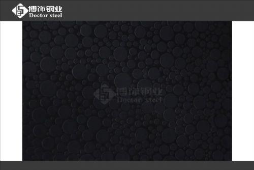 不锈钢蚀刻板电镀黑钛
