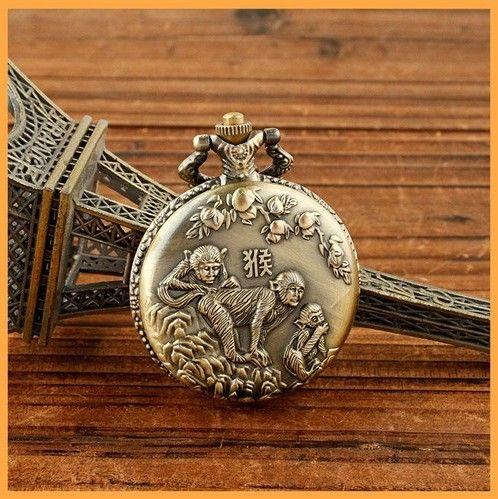 纪念表大号复古怀表 生肖 猴年 高级石英机芯 手表定制