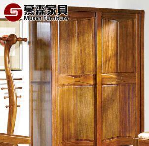 卧式实木整体衣柜