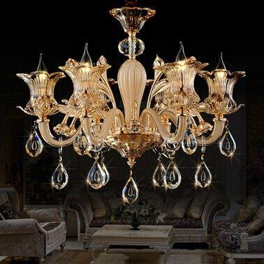 led水晶蜡烛吊灯