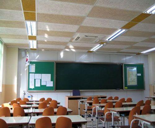 多功能教室吊顶用什么材料吸音 水泥木丝吸音板
