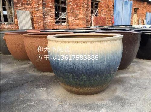 景德镇陶瓷器养鱼缸笔洗 水仙花盆睡莲碗莲瓷盆大号乌龟金鱼瓷缸