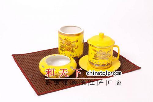 精品茶杯 会议杯定制 喝水杯陶瓷礼品杯供应