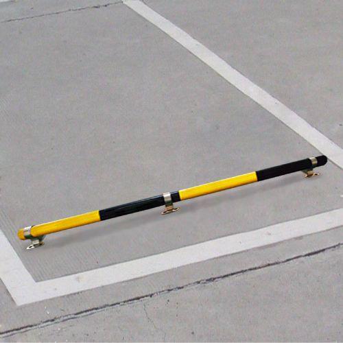 钢管汽车挡轮杆黄黑镀锌反光车轮定位器