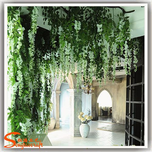 美化假紫藤花装饰 室内高档装修假植物