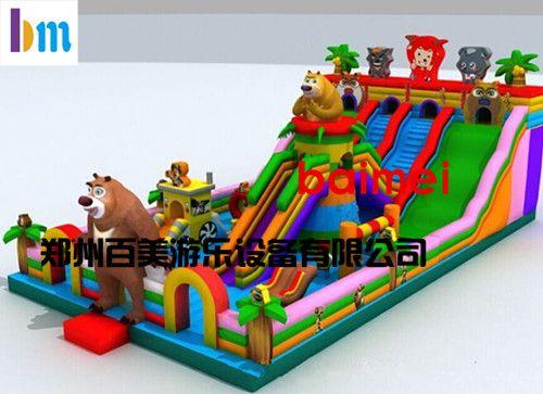 辽宁锦州儿童充气滑梯,熊出没充气滑梯依然销售火爆
