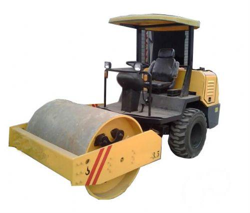 3吨半单钢轮座驾压路机 轮胎压路机