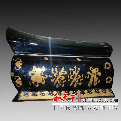 供应陶瓷骨灰盒 棺材定制电话13617983886