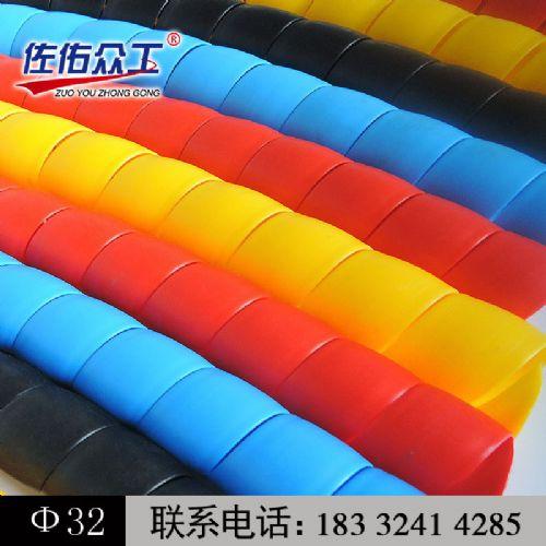 现货供应黑色HPS-32 黑色胶管保护套 耐磨抗老化