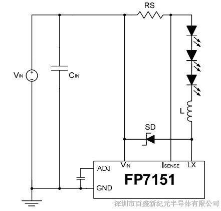 LED 驱动控制IC 700mA FP7151KR-G1