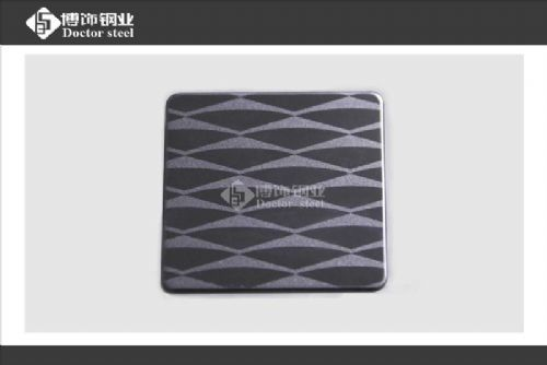 黑钛喷砂不锈钢蚀刻板