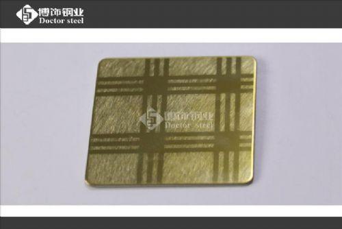 乱纹喷砂钛金不锈钢蚀刻板