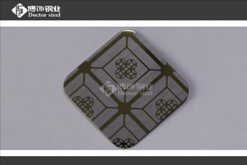 亮面钛金不锈钢蚀刻板