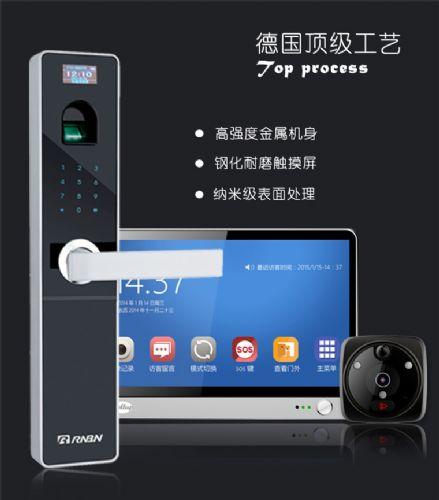 RNBN手机视频远程智能家用防盗门指纹锁 电子密码指纹锁