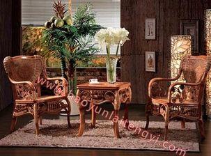 花饼椅厂家好运来藤椅花园桌椅休闲桌椅家具