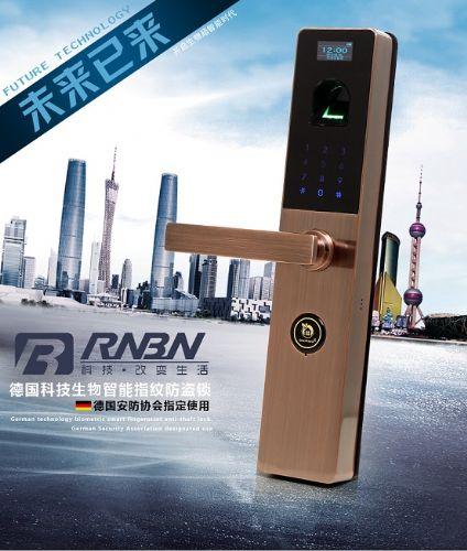 RNBN指纹锁 家用防盗门锁电子锁大门锁 智能密码锁指纹门锁