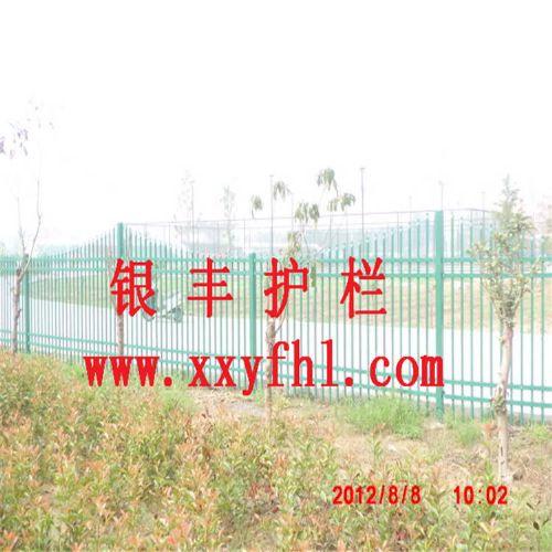 河南新乡二横杆围墙护栏 市政小区学校工地厂房围栏 锌钢栅栏