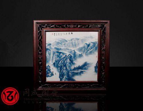 手绘珐琅彩瓷板画制作厂家