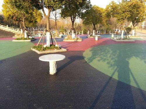 彩色透水混凝土地坪透水地坪彩色透水地坪透水地坪胶结剂徐州