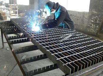 电厂格栅板_格栅板电厂平台_镀锌钢格栅板【星贝】