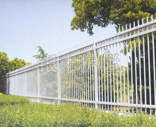 河南新乡上下加花四横梁锌钢围墙护栏透视栏杆围墙栅栏