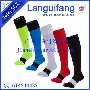 外单男女足球袜运动袜子棉加厚毛巾底中长筒吸汗黑白绿蓝黄红