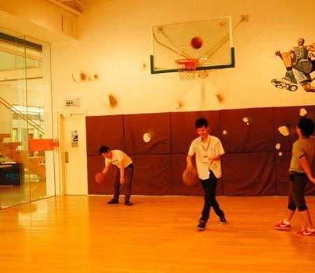 济南篮球场地专用PVC枫木纹运动地板运动地胶