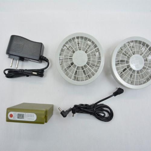 7.4V空调服风扇制冷降温服18650充电电池带电压调节功能