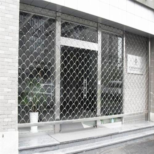 供应银行防盗卷帘门/不锈钢防盗网型门