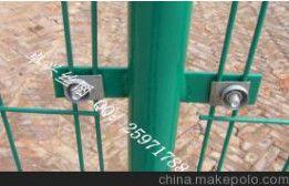 现货浸塑双边丝护栏网,各种规格护栏,框架护栏