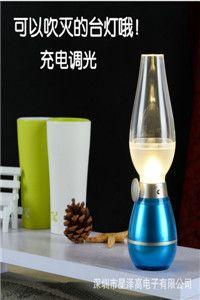 厂家直销LED吹控台灯创意小夜灯阅读灯