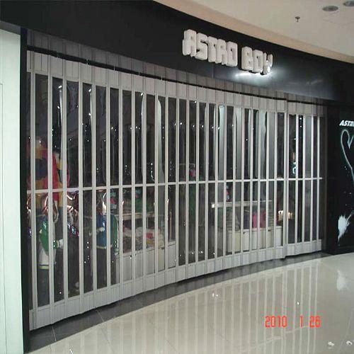 供应商铺豪华折叠门/PVC折叠门厂家定做