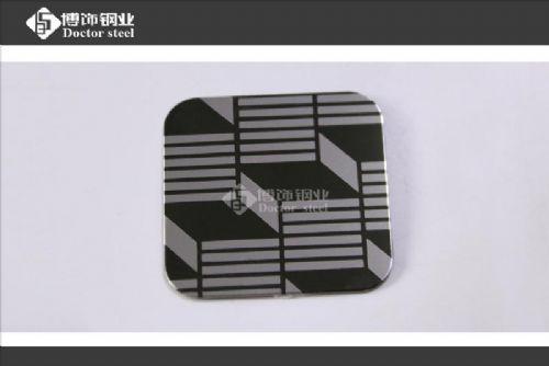 镜面黑钛不锈钢蚀刻板
